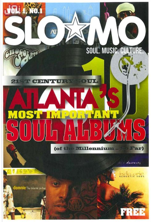Front cover of Slo Mo, a magazine dedicated to soul music and culture